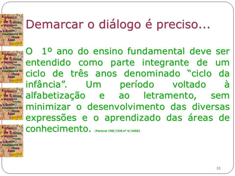 10 Demarcar o diálogo é preciso...