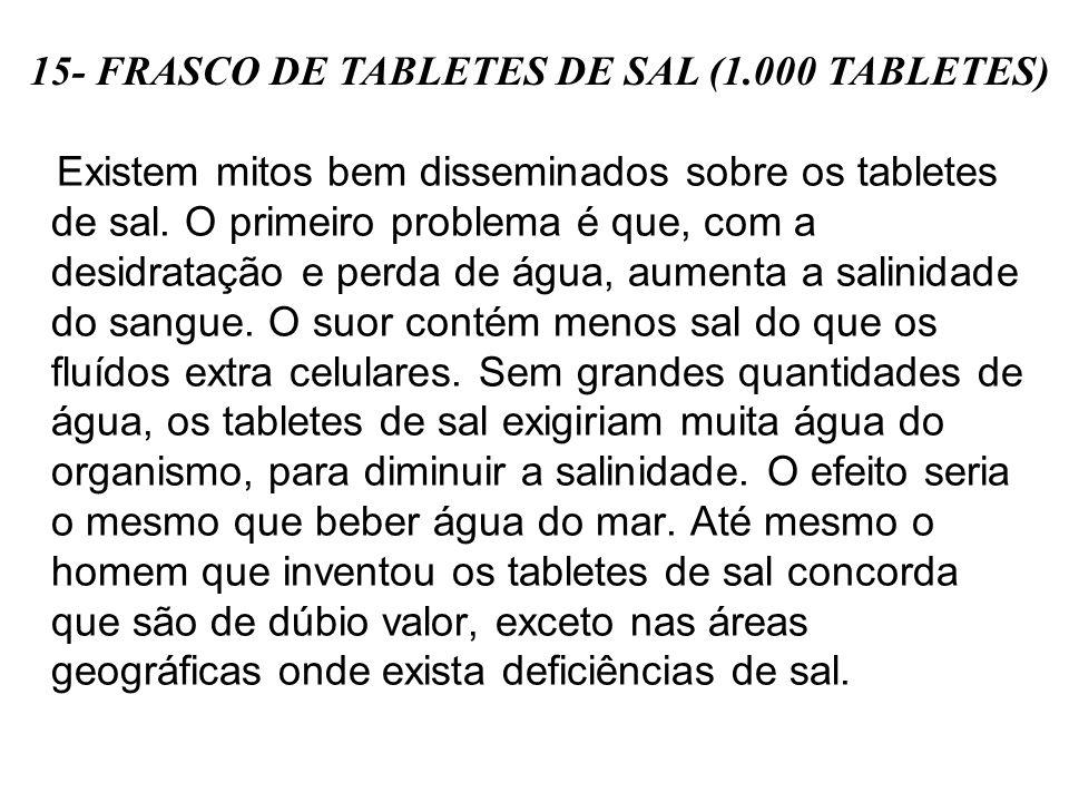 Existem mitos bem disseminados sobre os tabletes de sal.