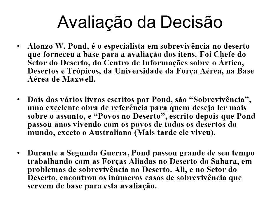 Avaliação da Decisão Alonzo W.