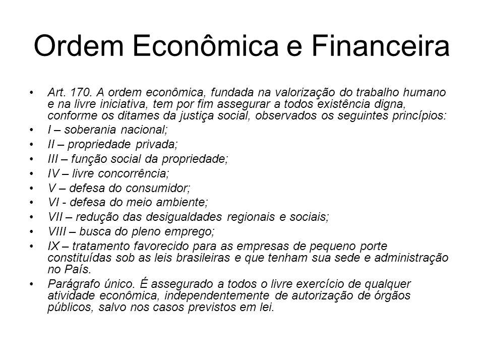 Fundamentos da ordem econômica e financeira Valorização do Trabalho Livre iniciativa