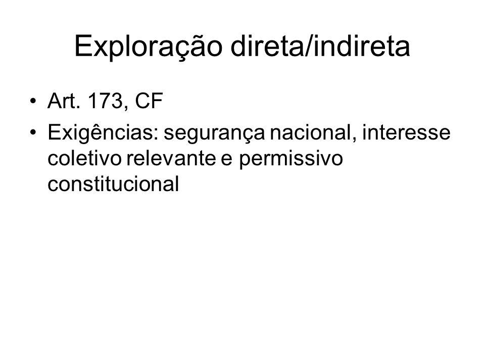 Monopólio Estatal Exploração exclusiva de um negócio, em decorrência da concessão de um privilégio, em razão do interesse público.