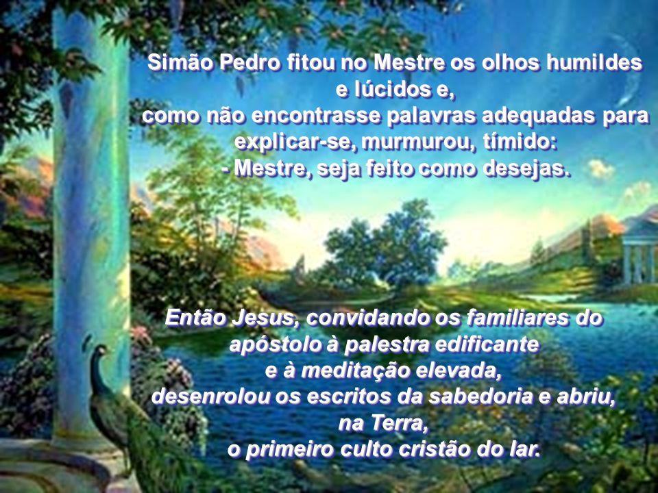 Jesus relanceou o olhar pela sala modesta, fez pequeno intervalo e continuou: - Pedro, acendamos aqui, em torno de quantos nos procuram a assistência