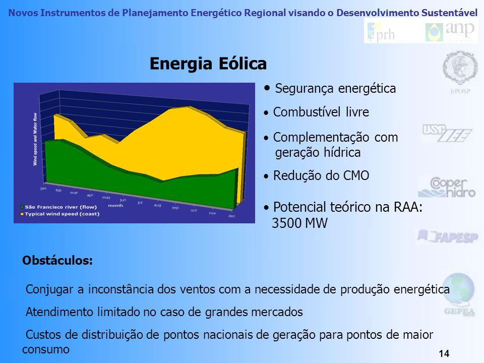 Novos Instrumentos de Planejamento Energético Regional visando o Desenvolvimento Sustentável 13 Energia Eólica