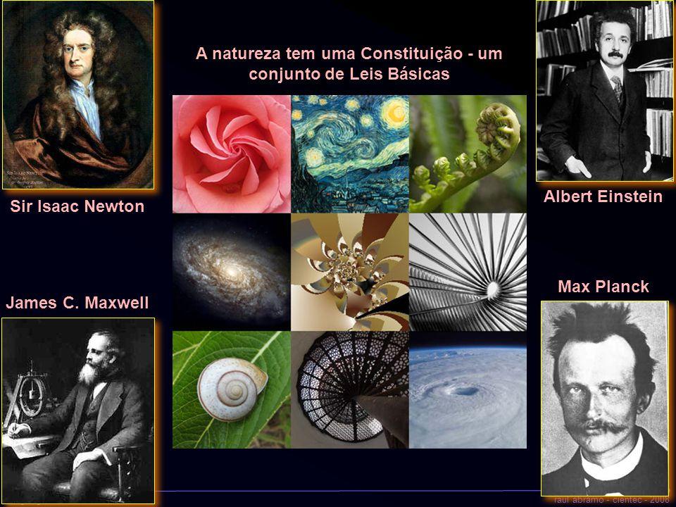 a geografia do universoraul abramo - cientec - 2008 A natureza tem uma Constituição - um conjunto de Leis Básicas Sir Isaac Newton James C. Maxwell Al