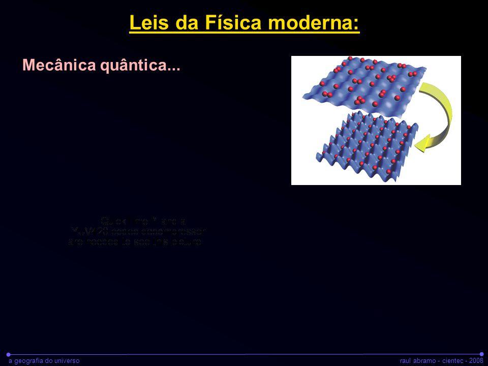 a geografia do universoraul abramo - cientec - 2008 Leis da Física moderna: Mecânica quântica...