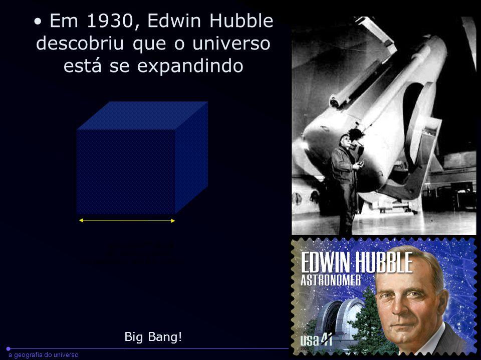 a geografia do universoraul abramo - cientec - 2008 As velocidades com que galáxias distantes se afastam de nós (e umas das outras) foi medida por Hubble, e continua a ser medida hoje, através do efeito Doppler.