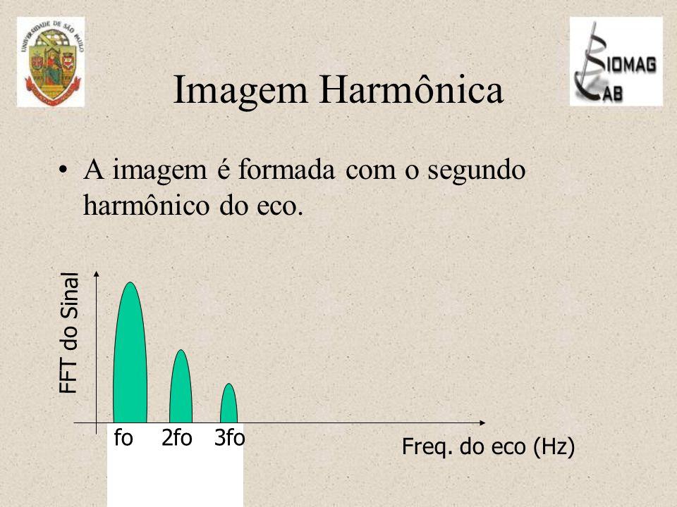 Imagem Harmônica A imagem é formada com o segundo harmônico do eco.