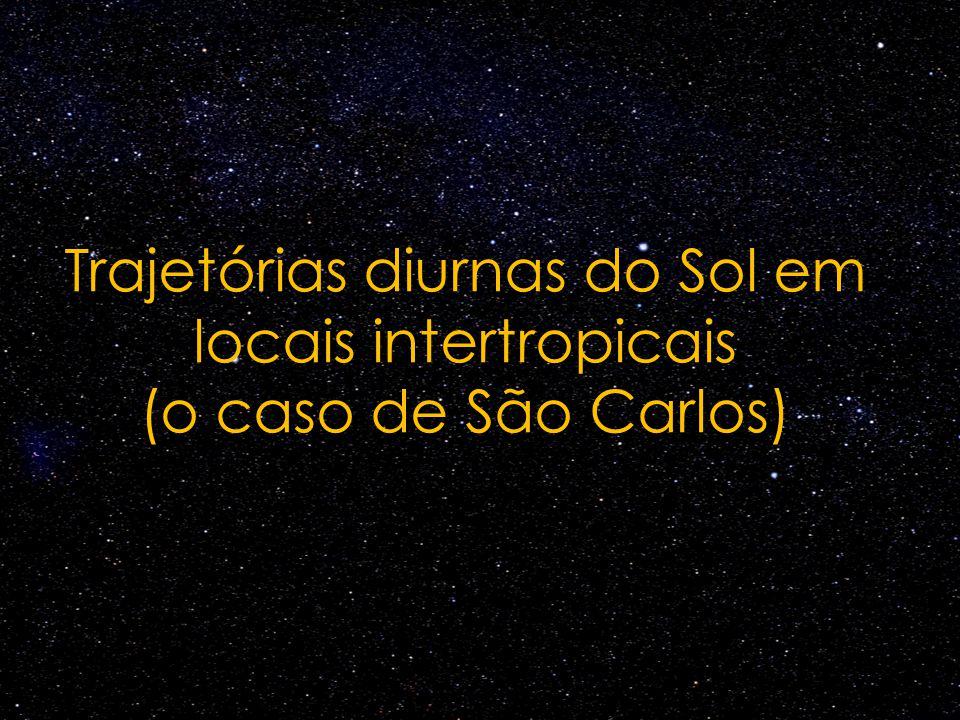 Trajetórias diurnas do Sol em locais intertropicais (o caso de São Carlos)