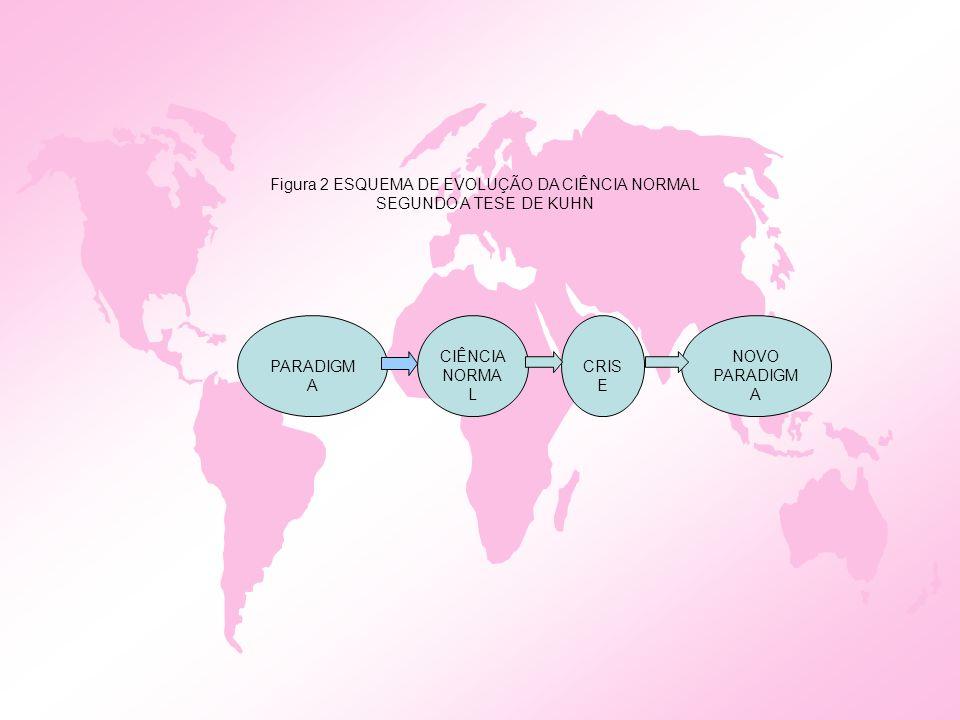 CIÊNCIA NORMA L CRIS E NOVO PARADIGM A Figura 2 ESQUEMA DE EVOLUÇÃO DA CIÊNCIA NORMAL SEGUNDO A TESE DE KUHN PARADIGM A