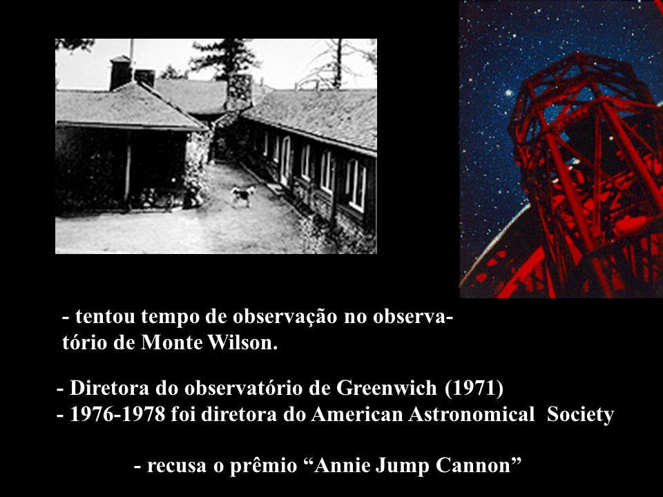 - tentou tempo de observação no observa- tório de Monte Wilson.