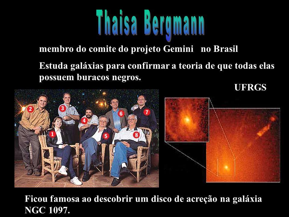 UFRGS membro do comite do projeto Gemini no Brasil Estuda galáxias para confirmar a teoria de que todas elas possuem buracos negros.