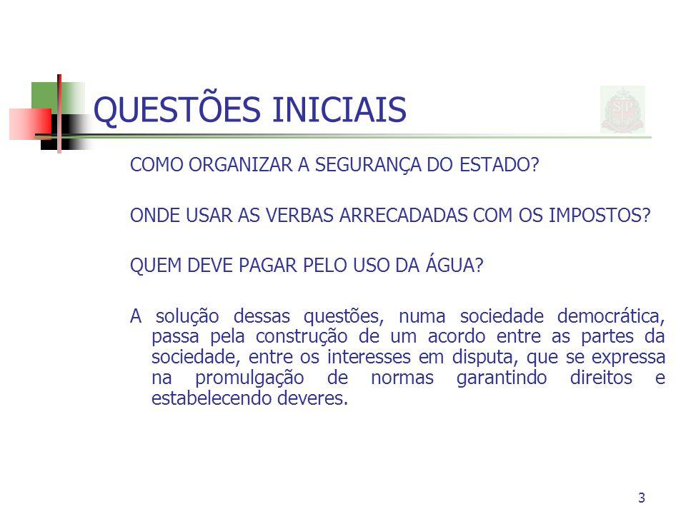3 QUESTÕES INICIAIS COMO ORGANIZAR A SEGURANÇA DO ESTADO.