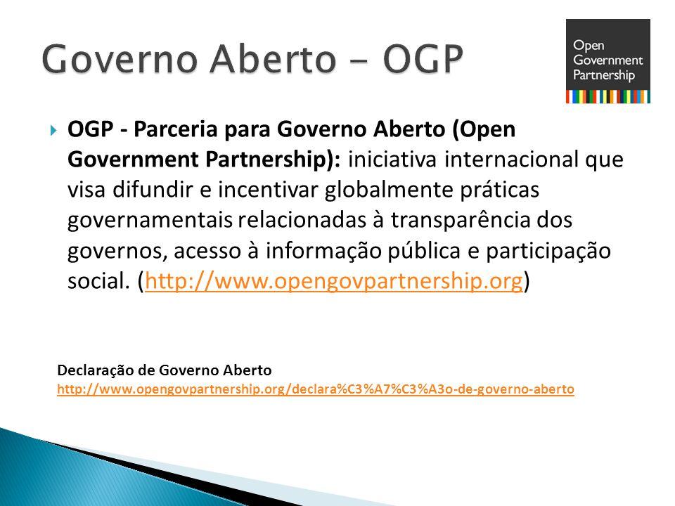  O movimento de Dados Abertos surge como uma demanda social para aumentar a transparência, a colaboração e a participação dos cidadãos nas políticas e nas ações do governo e compõe o conceito de Governo Aberto.
