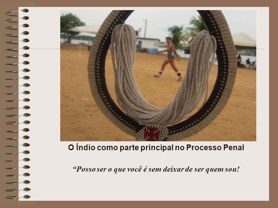 O Índio como parte principal no Processo Penal Posso ser o que você é sem deixar de ser quem sou!