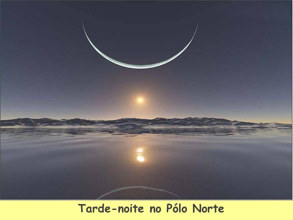 Tarde-noite no Pólo Norte