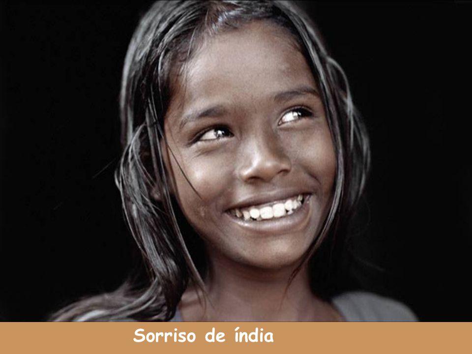 Sorriso de índia