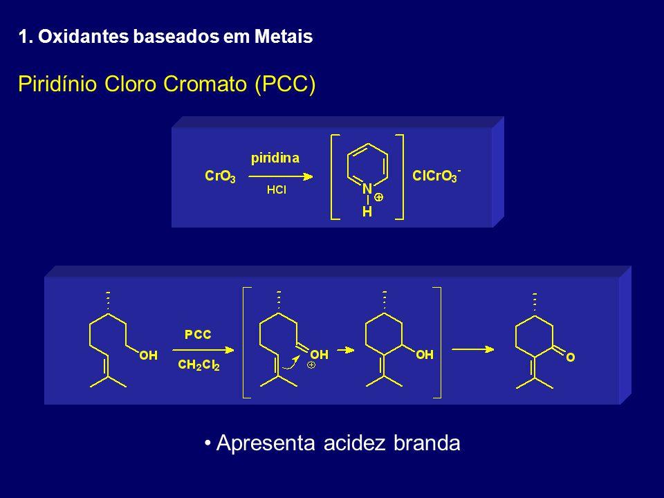 Piridínio Cloro Cromato (PCC) Apresenta acidez branda 1. Oxidantes baseados em Metais