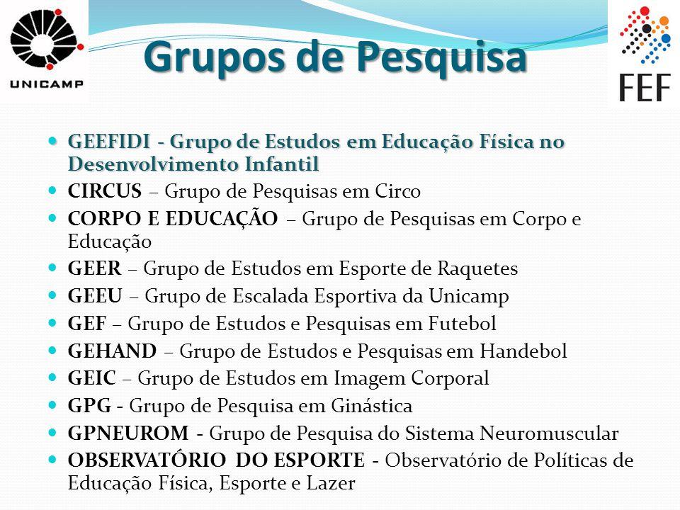 Grupos de Pesquisa GEEFIDI - Grupo de Estudos em Educação Física no Desenvolvimento Infantil GEEFIDI - Grupo de Estudos em Educação Física no Desenvol