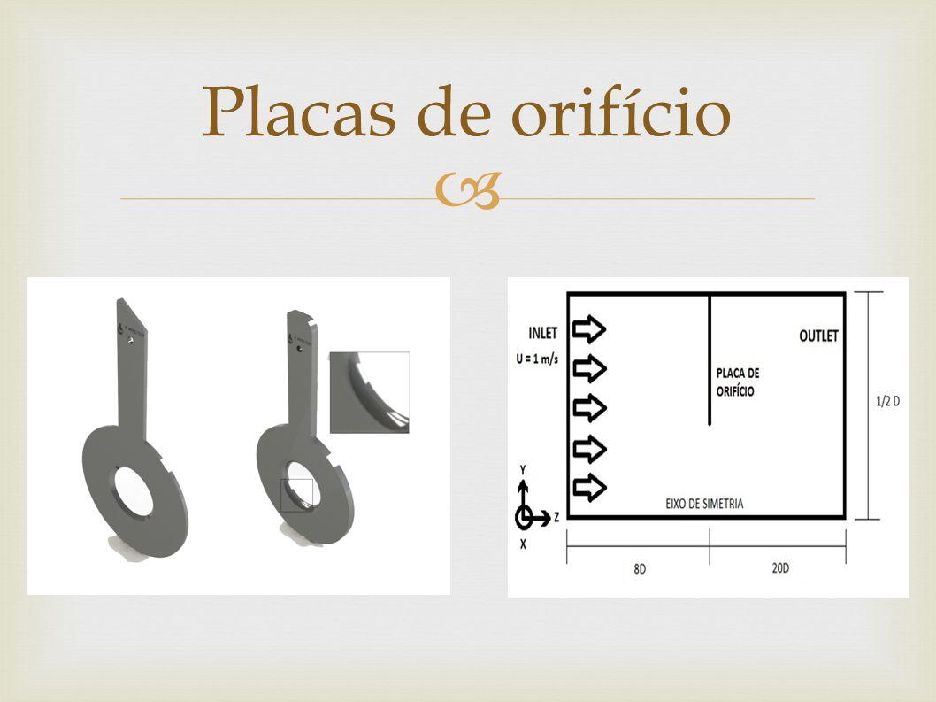  O objetivo deste estudo é obter o coeficiente de descarga do fluído através de simulação numérica utilizando o pacote computacional Phoenics® e, comparar esse valor com o valor obtido através da equação empírica fornecida pela norma NBR ISO 5167-1.