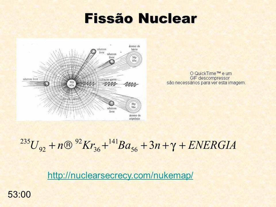 Fissão Nuclear 53:00 http://nuclearsecrecy.com/nukemap/