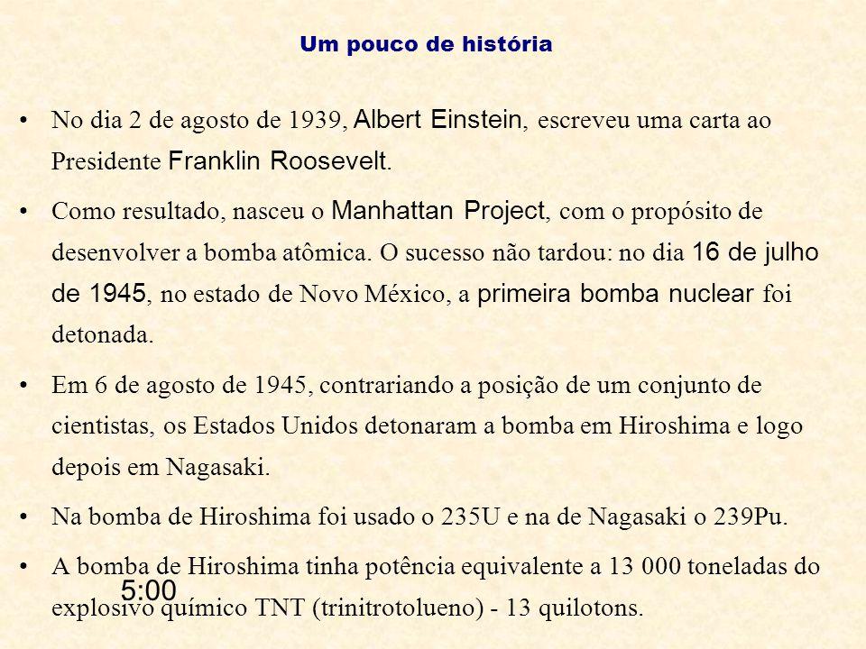 No dia 2 de agosto de 1939, Albert Einstein, escreveu uma carta ao Presidente Franklin Roosevelt. Como resultado, nasceu o Manhattan Project, com o pr
