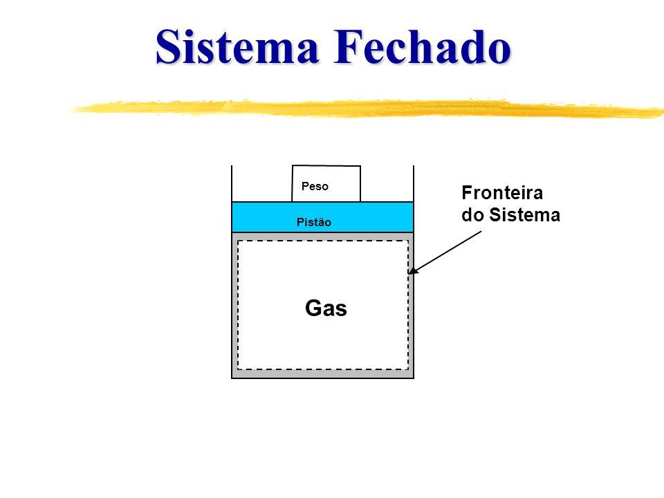 Pistão Peso Gas Sistema Fechado Fronteira do Sistema