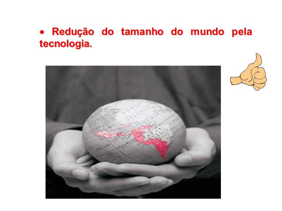  Redução do tamanho do mundo pela tecnologia.