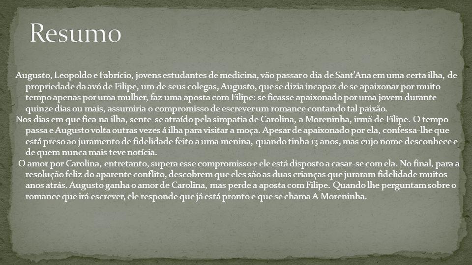 Augusto, Leopoldo e Fabrício, jovens estudantes de medicina, vão passar o dia de Sant'Ana em uma certa ilha, de propriedade da avó de Filipe, um de se