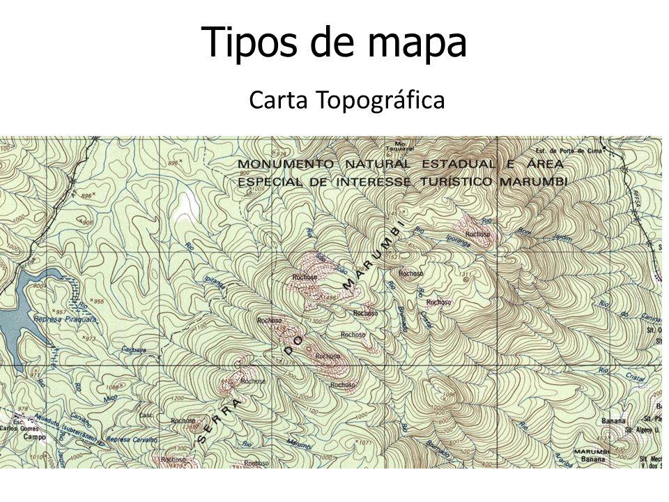 Tipos de mapa Carta Topográfica