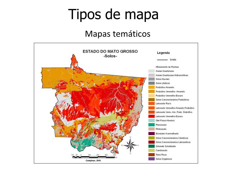 Tipos de mapa Mapas temáticos