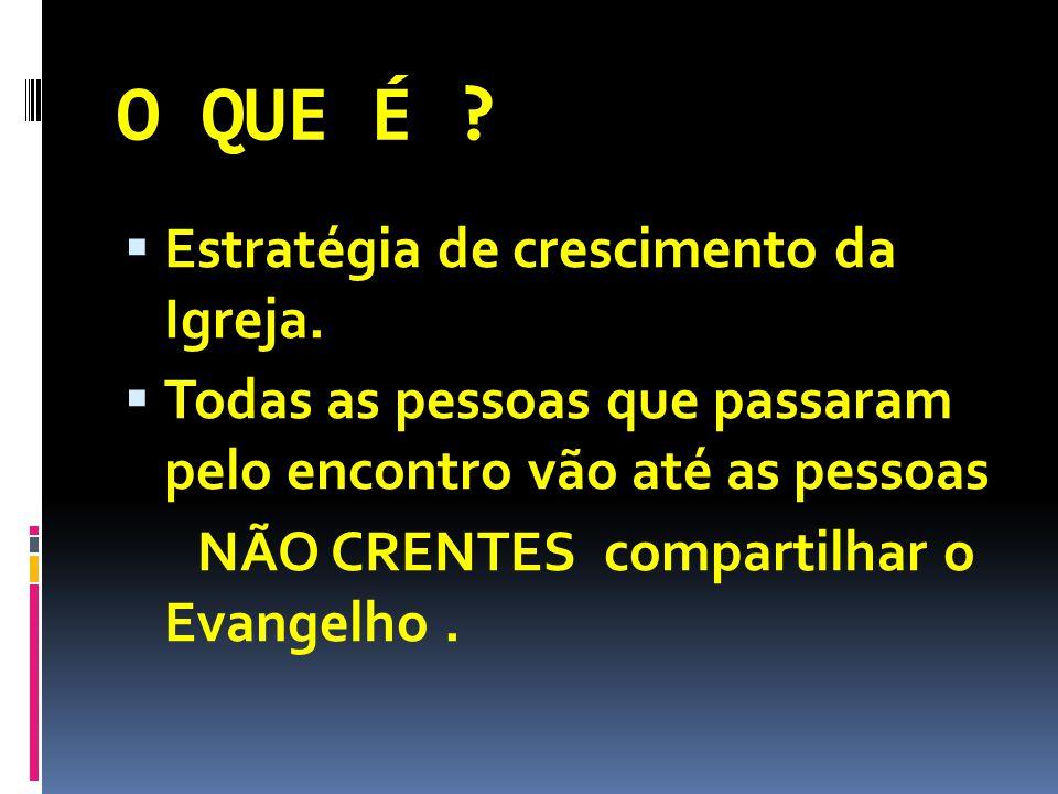 O QUE É . Estratégia de crescimento da Igreja.