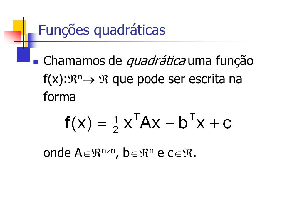 Exemplo com A bem condicionada » A = sprand(100,100,0.05,0.5) +0.1*speye(100); » A = A *A; » condest(A) ans = 11.085 » b = rand(100,1); » x = pcg(A,b); pcg converged at iteration 15 to a solution with relative residual 9.8e-007