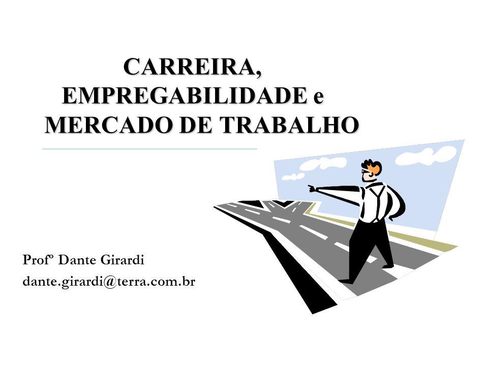 CARREIRA, EMPREGABILIDADE e MERCADO DE TRABALHO Profº Dante Girardi dante.girardi@terra.com.br