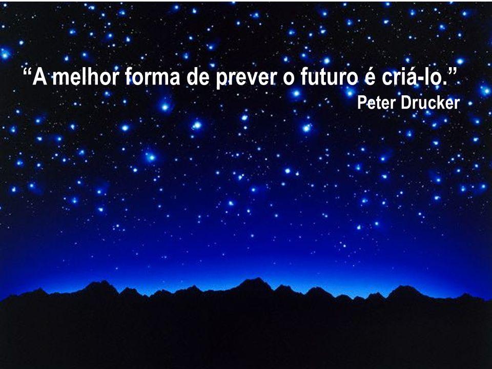 """""""A melhor forma de prever o futuro é criá-lo."""" Peter Drucker"""