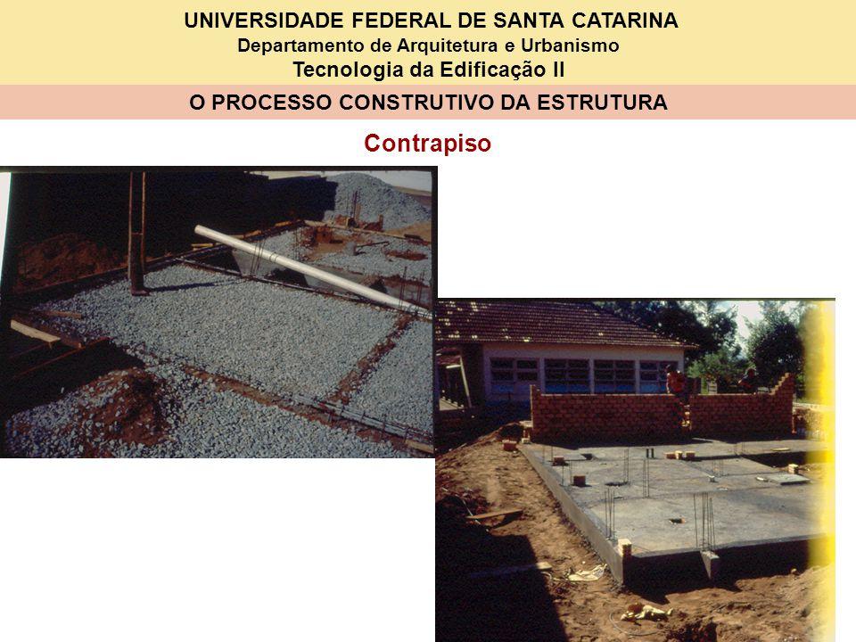UNIVERSIDADE FEDERAL DE SANTA CATARINA Departamento de Arquitetura e Urbanismo Tecnologia da Edificação II O PROCESSO CONSTRUTIVO DA ESTRUTURA Contrap