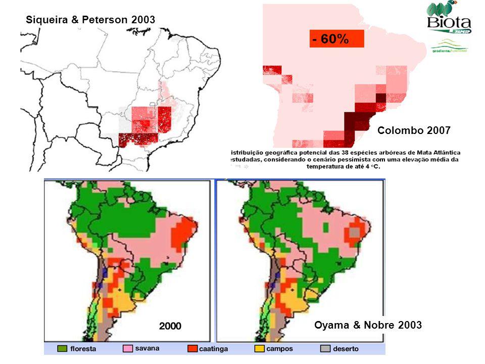 Siqueira & Peterson 2003 Oyama & Nobre 2003 Colombo 2007