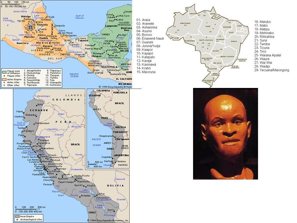 Alta diversidade étnica e cultural Pré e Pós Colombo. Pelo menos 15.000 de ocupação humana.