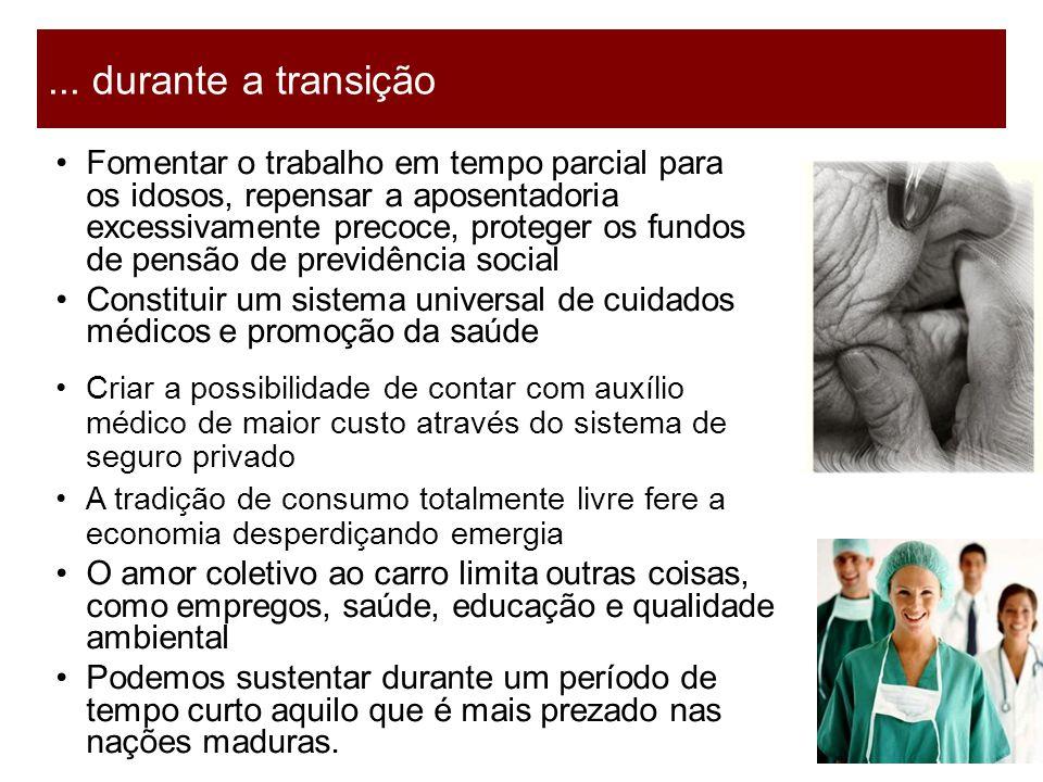 17 Fomentar o trabalho em tempo parcial para os idosos, repensar a aposentadoria excessivamente precoce, proteger os fundos de pensão de previdência s