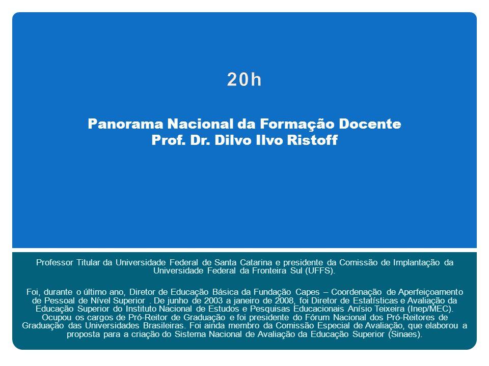 Panorama Nacional da Formação Docente Prof. Dr.
