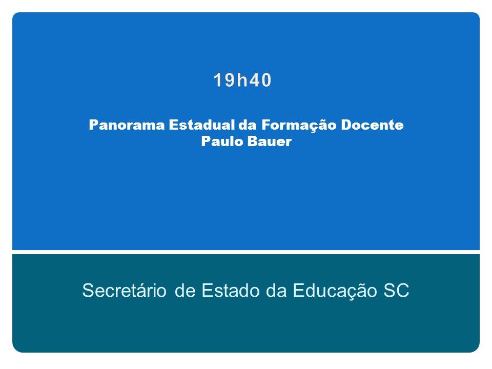 Panorama Nacional da Formação Docente Prof.Dr.