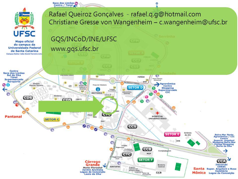 Rafael Queiroz Gonçalves - rafael.q.g@hotmail.com Christiane Gresse von Wangenheim – c.wangenheim@ufsc.br GQS/INCoD/INE/UFSC www.gqs.ufsc.br