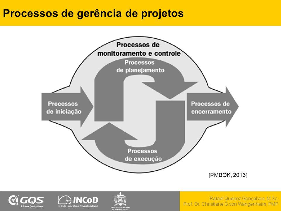 Rafael Queiroz Gonçalves, M.Sc. Prof. Dr. Christiane G.von Wangenheim, PMP Processos de gerência de projetos [PMBOK, 2013]