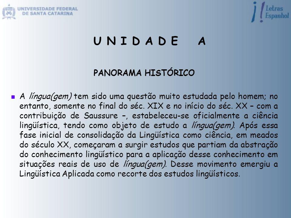 PANORAMA HISTÓRICO A língua(gem) tem sido uma questão muito estudada pelo homem; no entanto, somente no final do séc. XIX e no início do séc. XX – com
