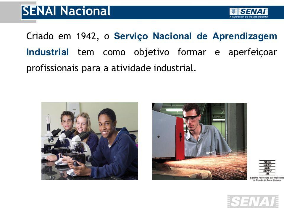 Criado em 1942, o Serviço Nacional de Aprendizagem Industrial tem como objetivo formar e aperfeiçoar profissionais para a atividade industrial.