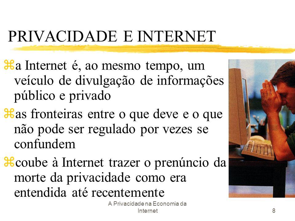 A Privacidade na Economia da Internet8 PRIVACIDADE E INTERNET za Internet é, ao mesmo tempo, um veículo de divulgação de informações público e privado