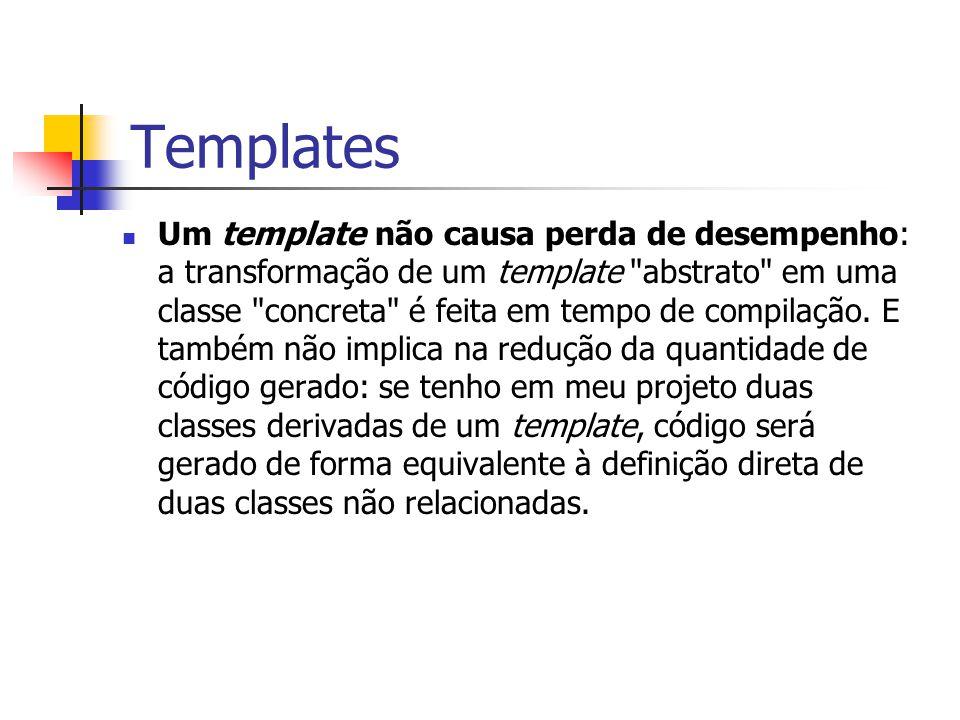 Templates Um template não causa perda de desempenho: a transformação de um template
