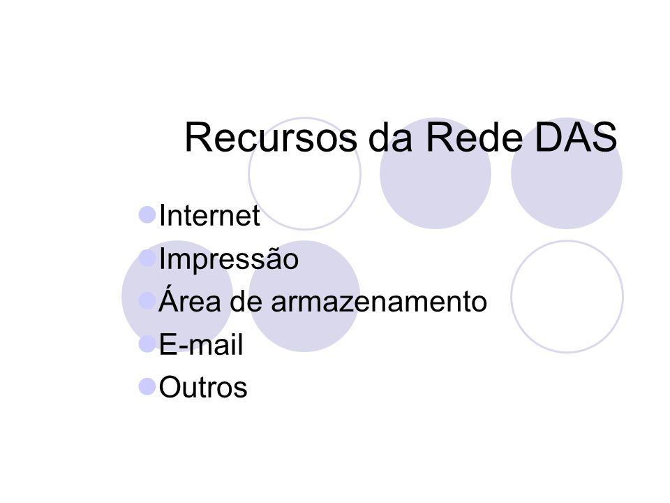 Recursos da Rede DAS Internet Impressão Área de armazenamento E-mail Outros