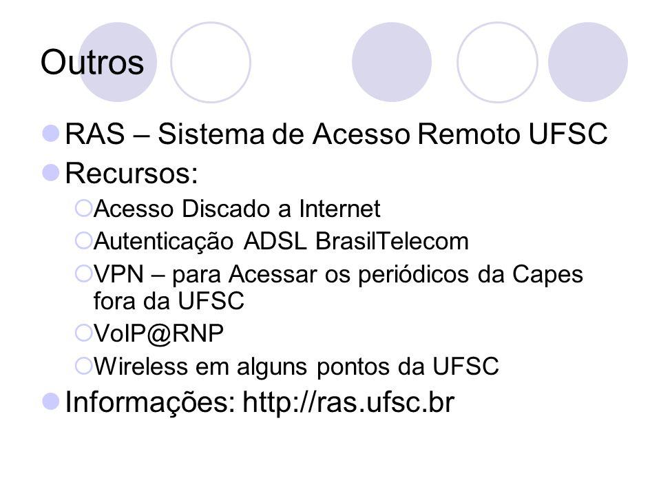 Atendimento ao Usuário Telefone: 3721-7550 Dúvidas, instalações de software, hardware: suporte@das.ufsc.brsuporte@das.ufsc.br Problemas com e-mail, impressão, conexão: sysadmin@das.ufsc.brsysadmin@das.ufsc.br Meu celular: 9921-3236 (para casos de extrema urgência, não faço plantão)