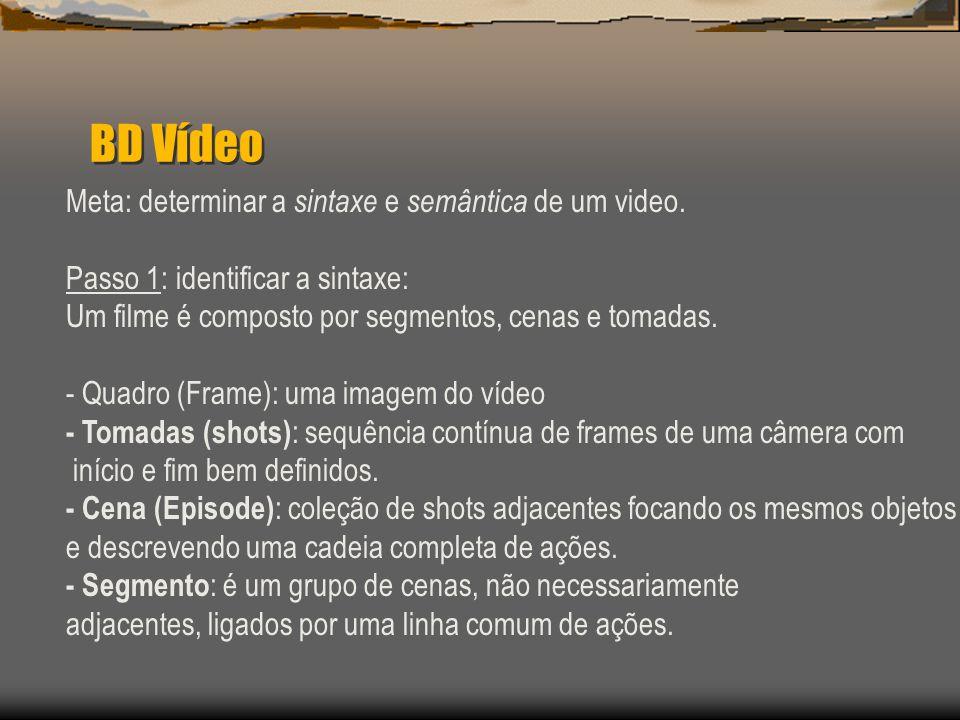 BD Vídeo Meta: determinar a sintaxe e semântica de um video.