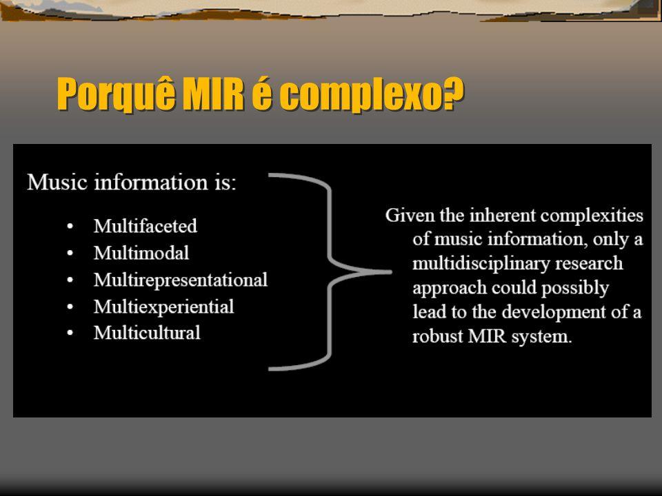 Porquê MIR é complexo?